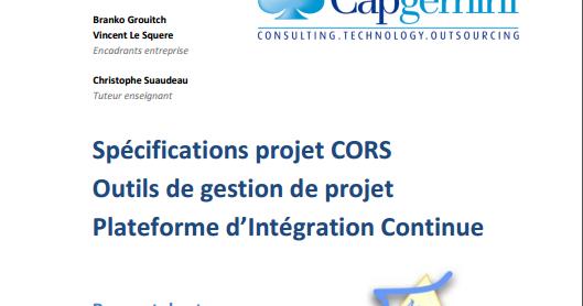 sp u00e9cifications projet cors outils de gestion de projet