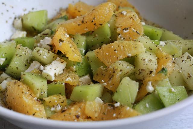 salat cukrovy melou pomeranc mata