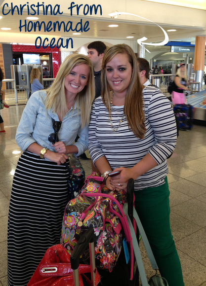 At the airport with Christina from Homemade Ocean