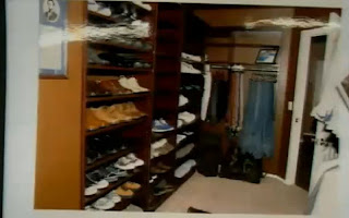 Travis Alexander's closet is in meticulous shape