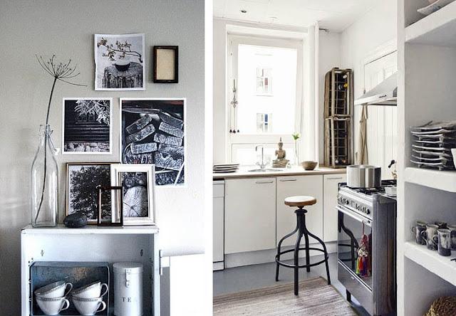 Verzameling zwart-wit fotos via Wish! * Warm witte keuken via 79 ...