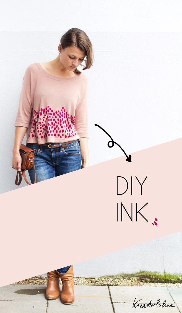 DIY Pullover bedrucken mit Druckertinte