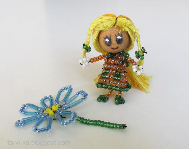 куколка из бисера