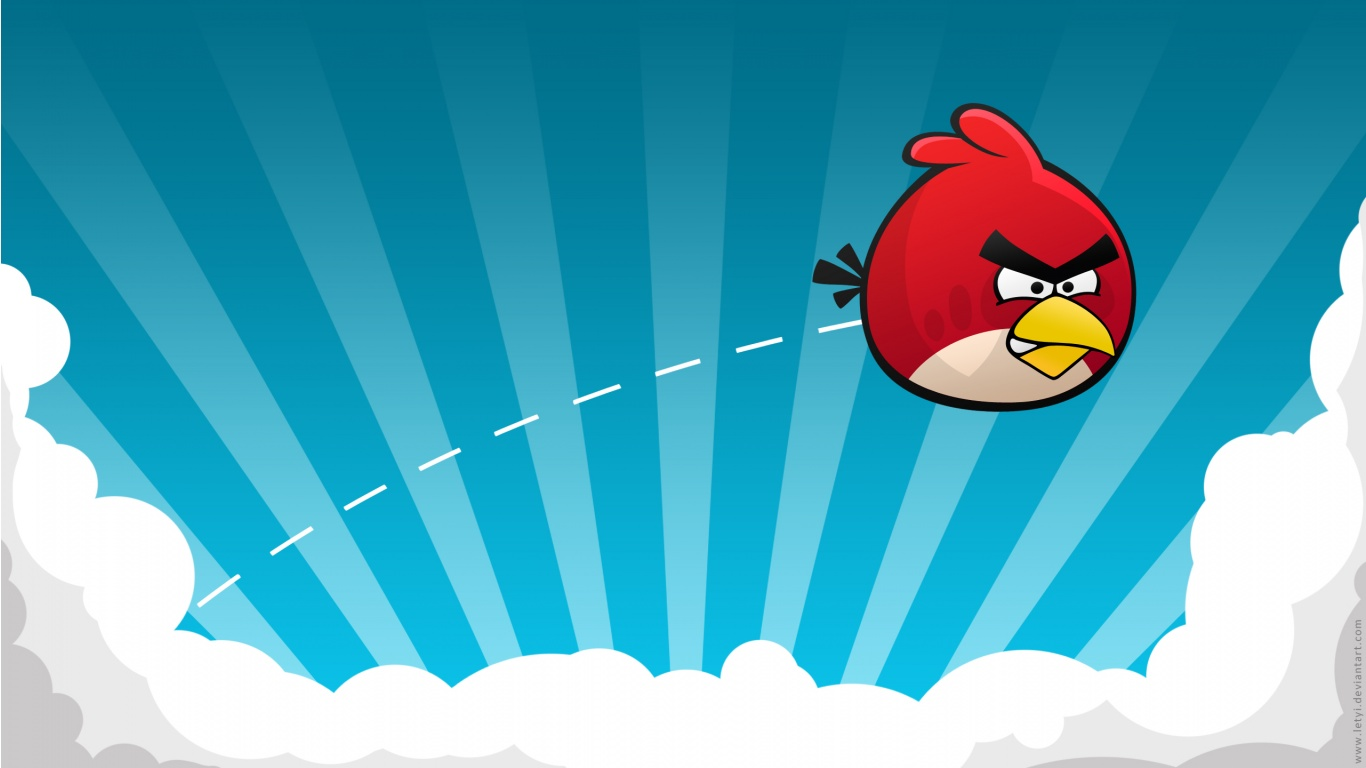 Angry Birds Game Blue Vector Sky Clouds Game Smartphone Pads HD    Angry Bird Background