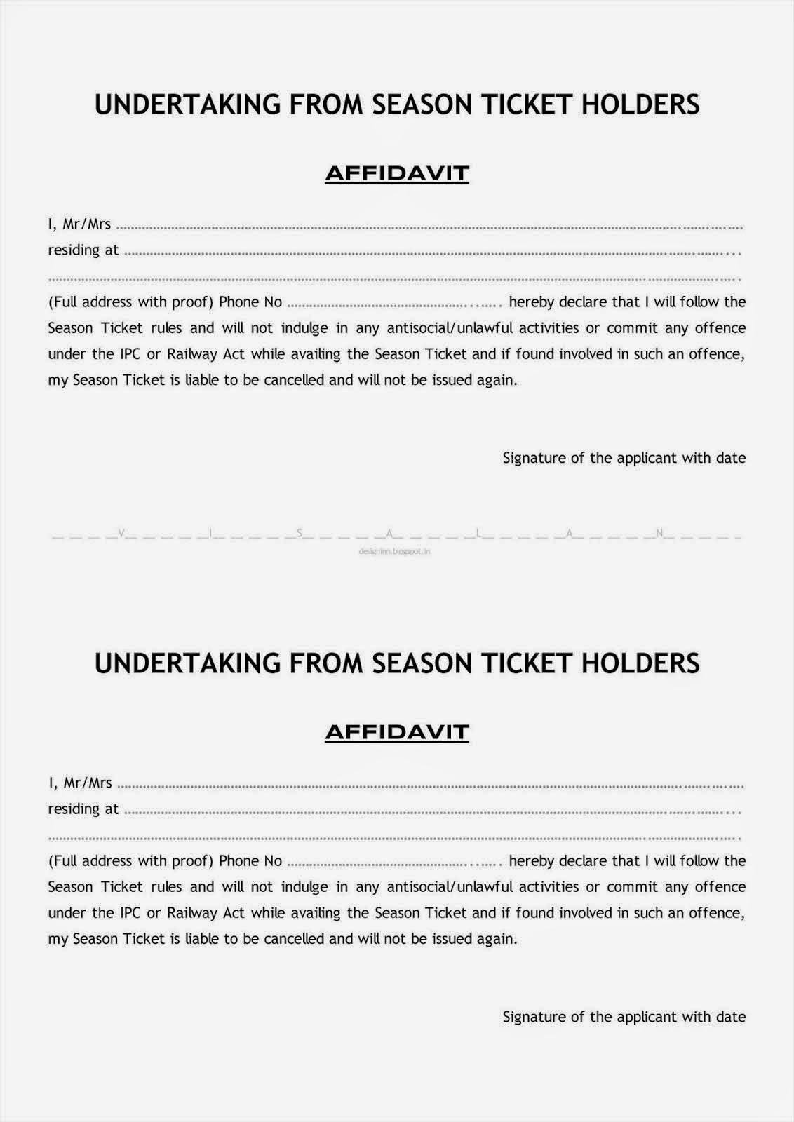 Season ticket affidavit new format altavistaventures Image collections