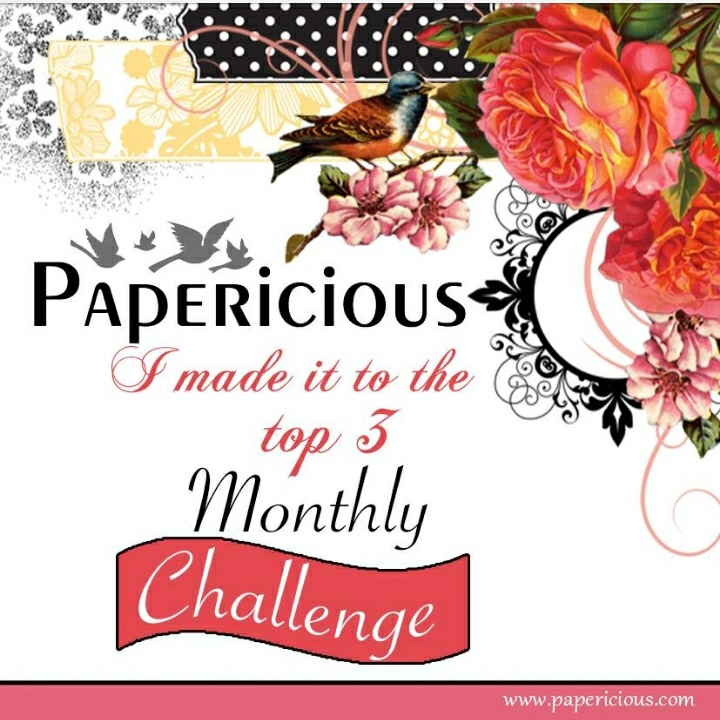 Made it to Top 3 in Papericious challenge