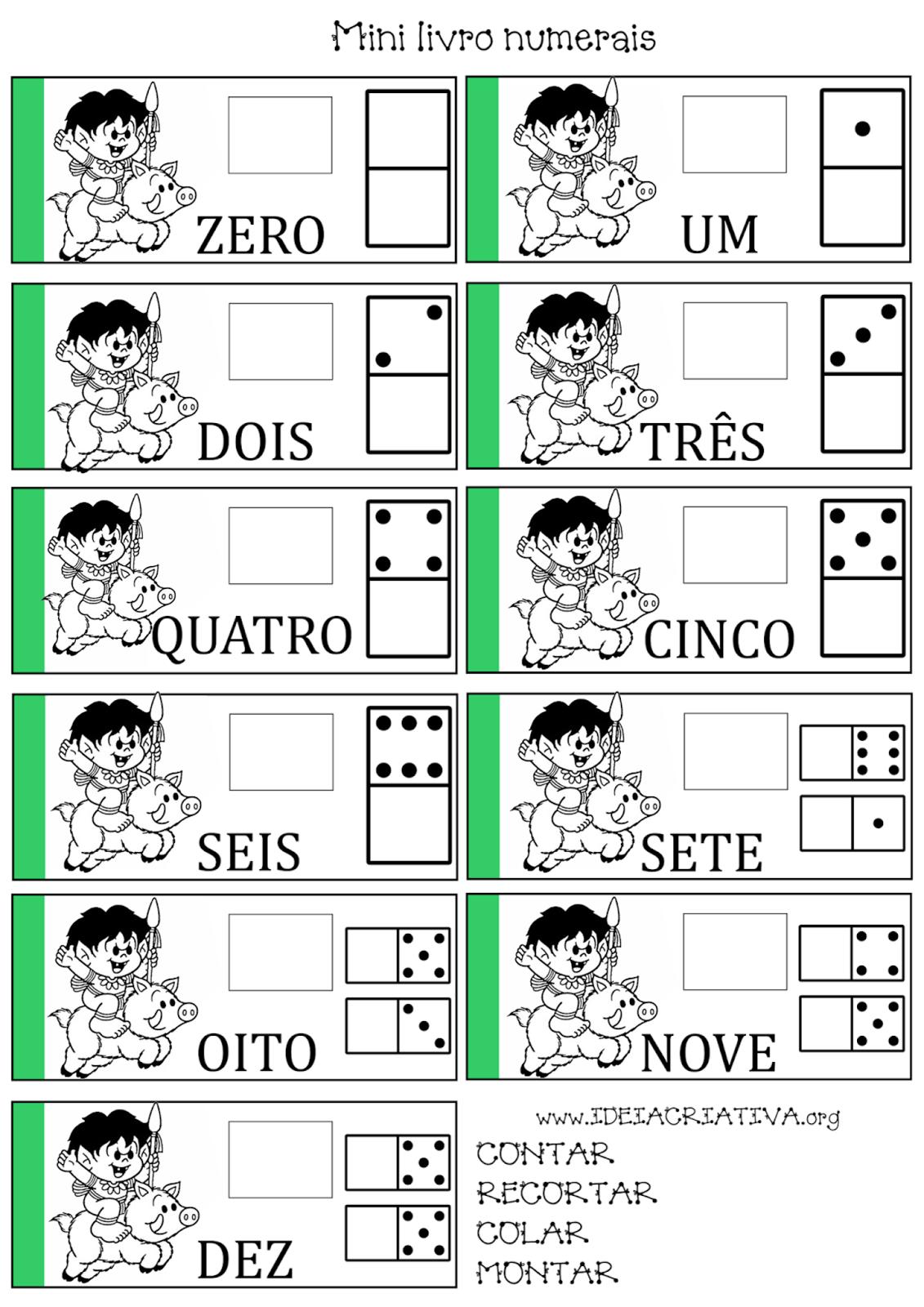 Livro Recorte Colagem Caipora Número e Quantidade