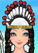 Индианская принцесса - Онлайн игра для девочек