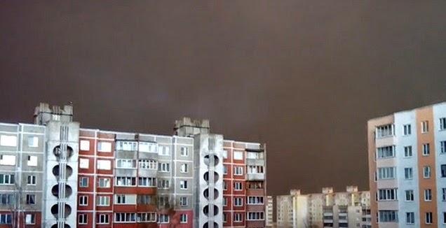 Se hizo de noche en pleno día en la ciudad de Bielorrusia