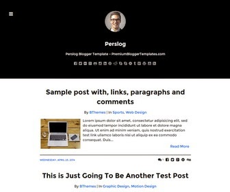 Perslog is a Simple and Elegant, SEO Friendly, Responsive Blogger Template for Writers. Perslog Blogger Template has a Dropdown Menus, Related Posts, Google Fonts, Minimal Design, Display/Hide Sidebar, Social Buttons, Post Share Link