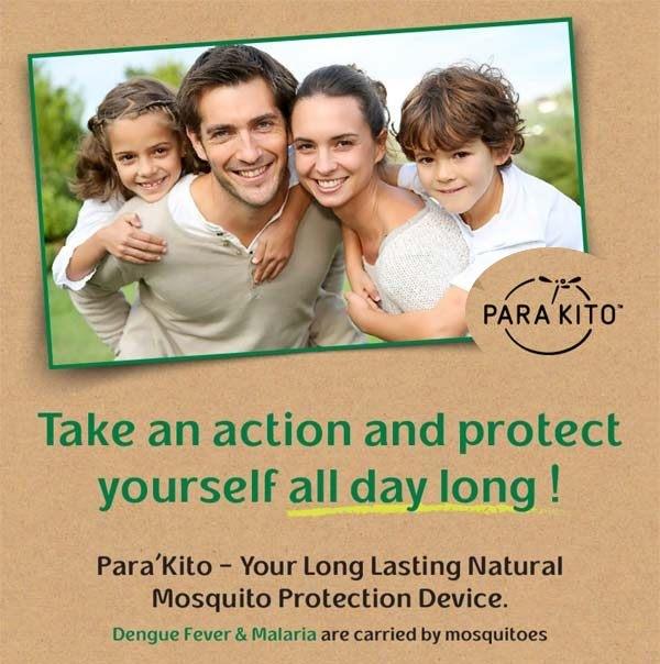 Parakito prevents Mosquito bites