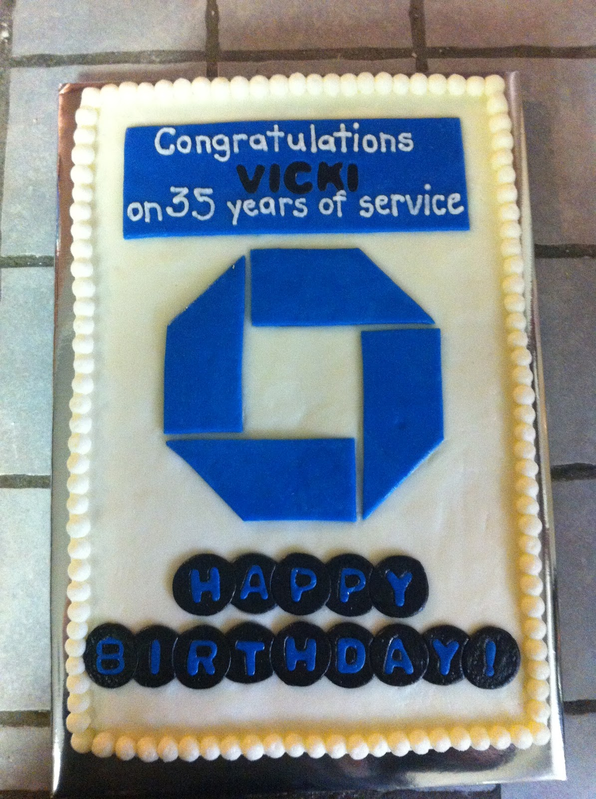 Cakes by Mindy: Chase Bank Cake 10\