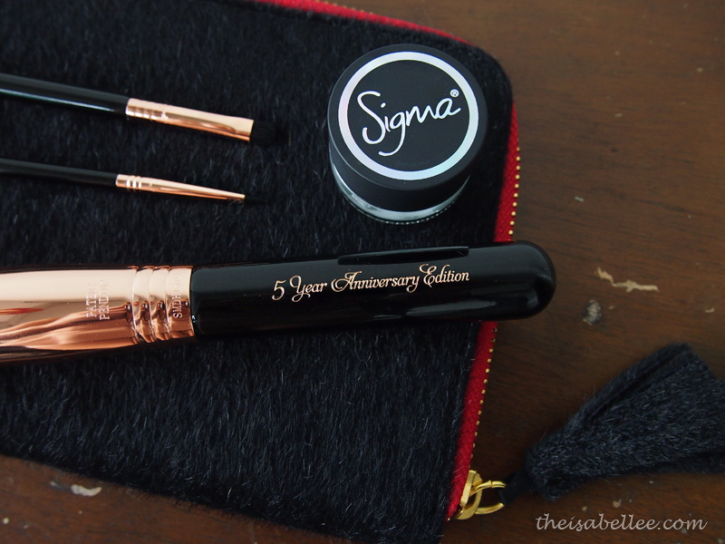 Sigma Beauty 5 years anniversary copper brushes