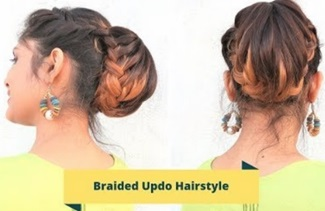 Braided Updo Hairstyle For Medium To Long Hair /Wedding Hairstyle