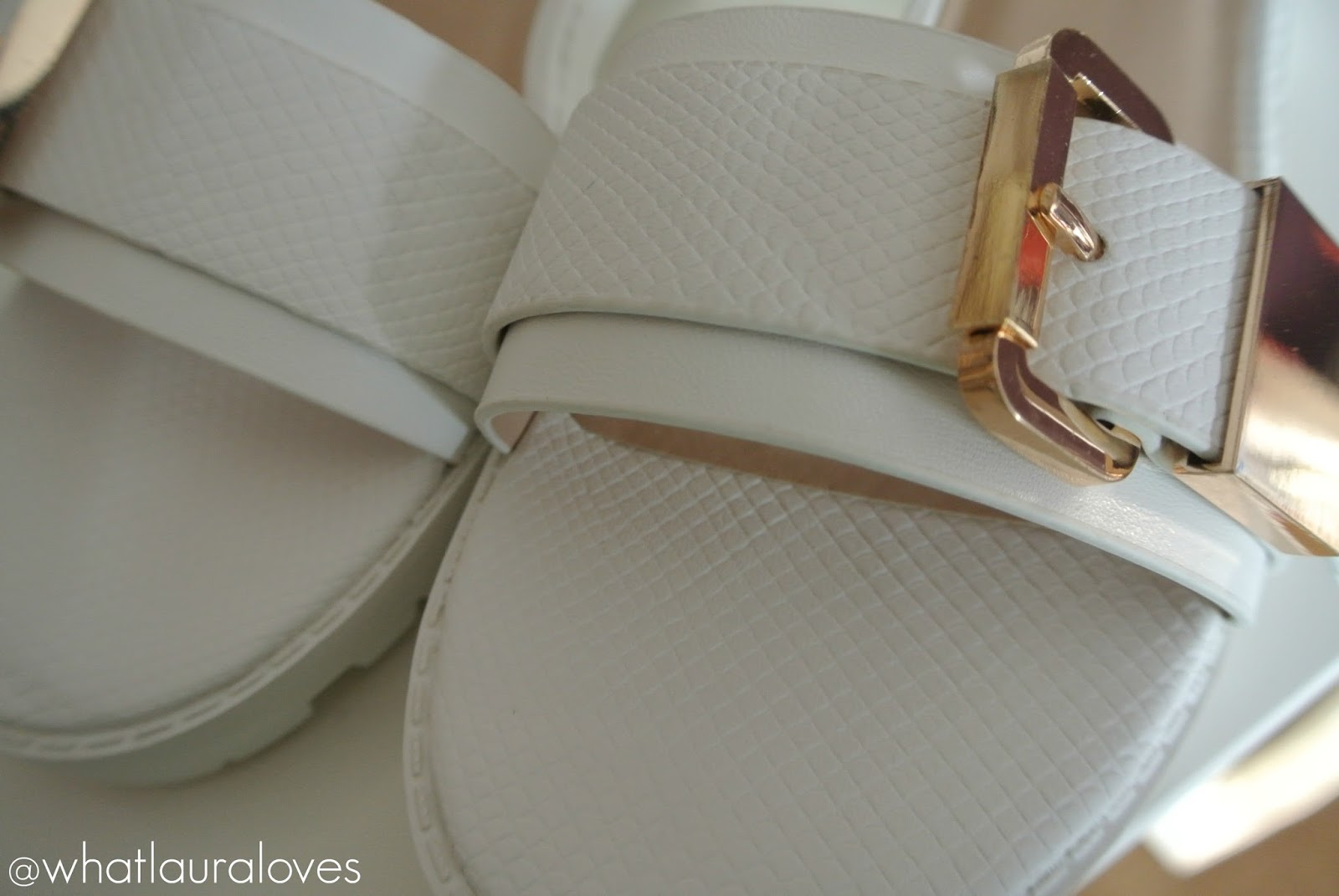 River Island White Cleated Sole Sandals