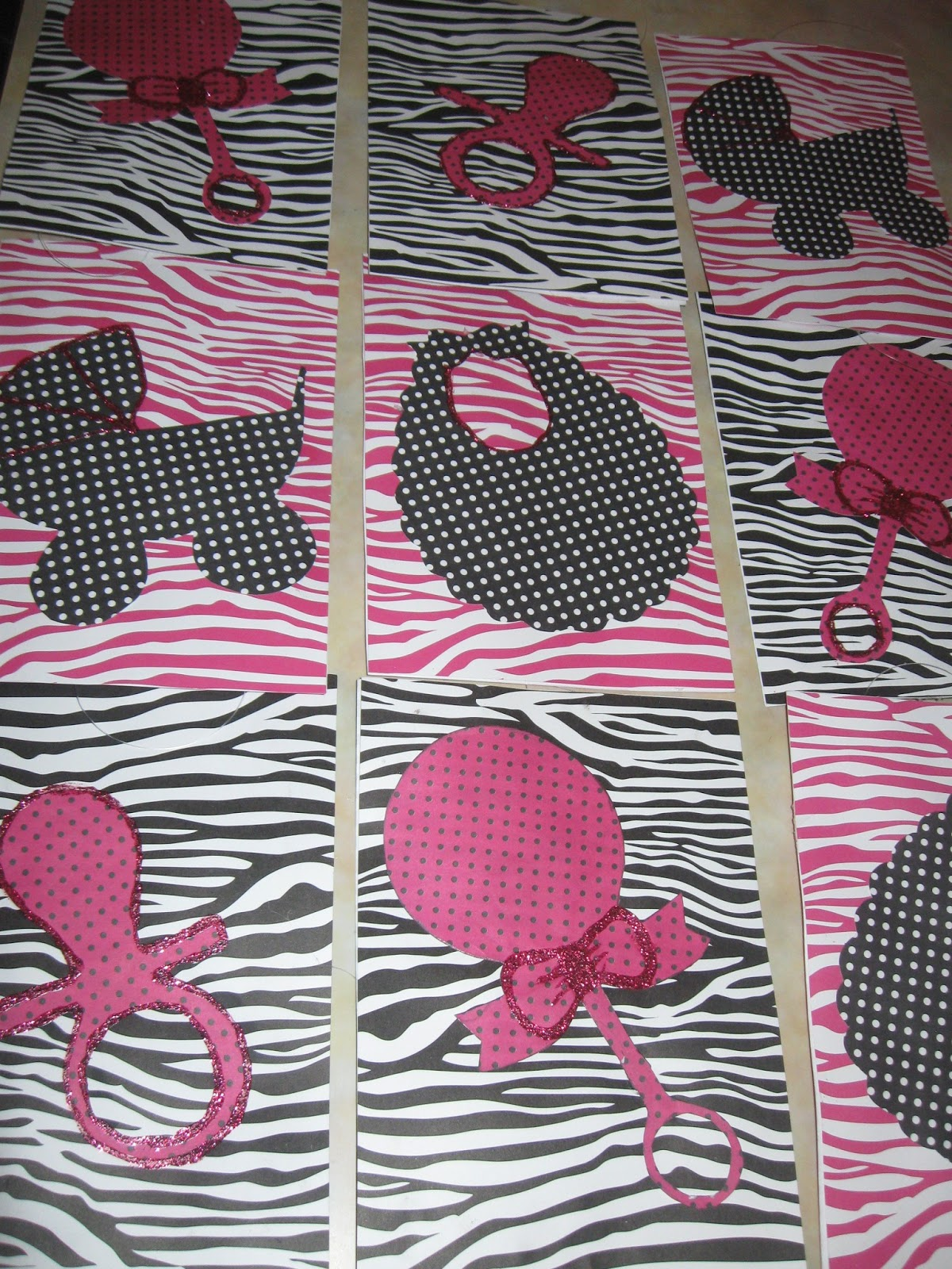 Punky 39 s party place pink black zebra polka dots baby for Red and white polka dot decorations