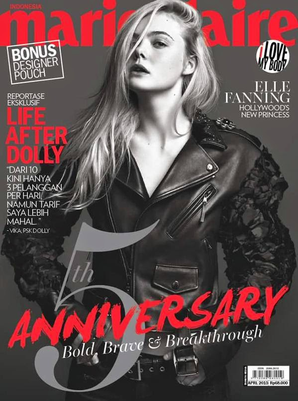 Actress @ Elle Fanning for Marie Claire Indonesia, April 2015