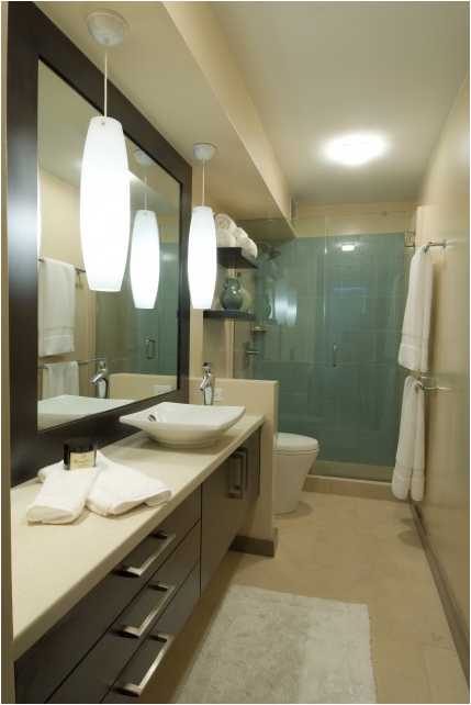 Mid century bathrooms remodel bathroom pinterest mid for Modern style bathroom designs