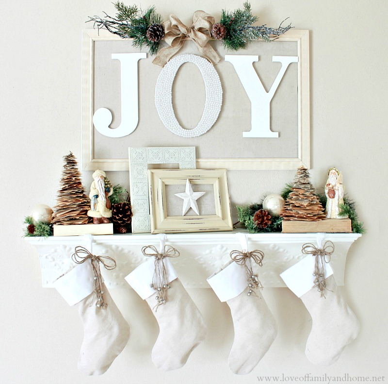 do you have a mantel that you decorate for christmas - Joy Christmas Decoration