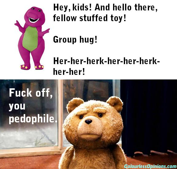 Barney & Ted meme pedophile