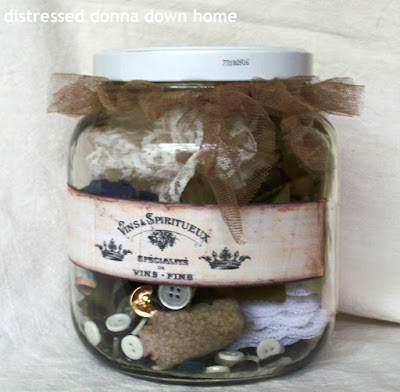 repurposing jars and bottles, vintage bits and bobs, Linen Chic