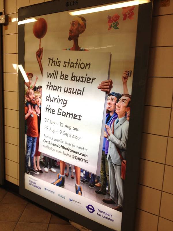 London Underground Olympics transport basketball poster