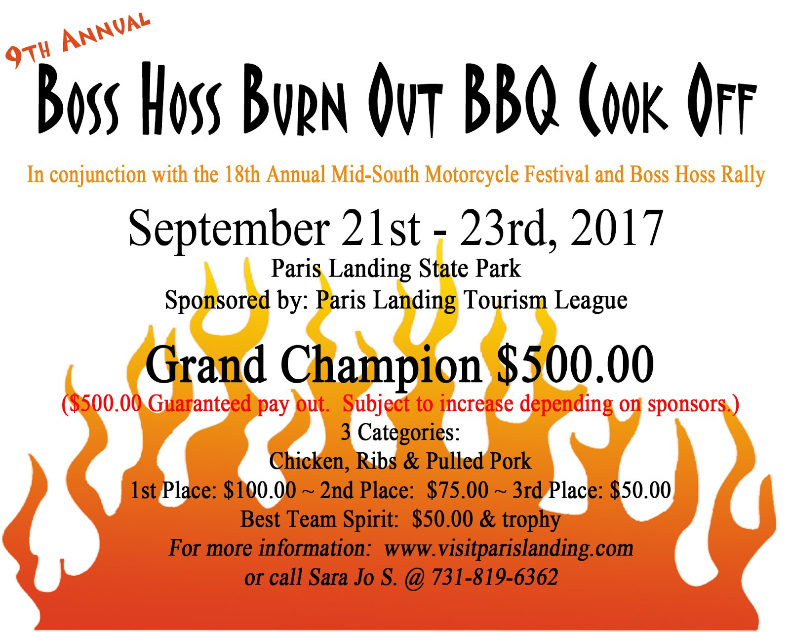 Boss Hoss Burn Out BBQ Cook Off