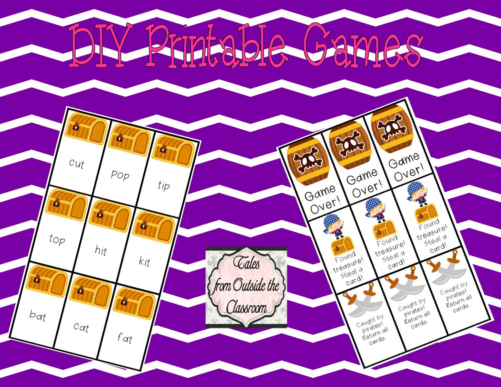 Classroom Diy Diy Printable Games