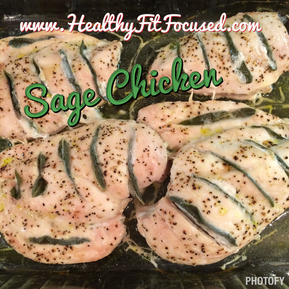 Clean Eating Recipe, Butternut squash, Sage Chicken