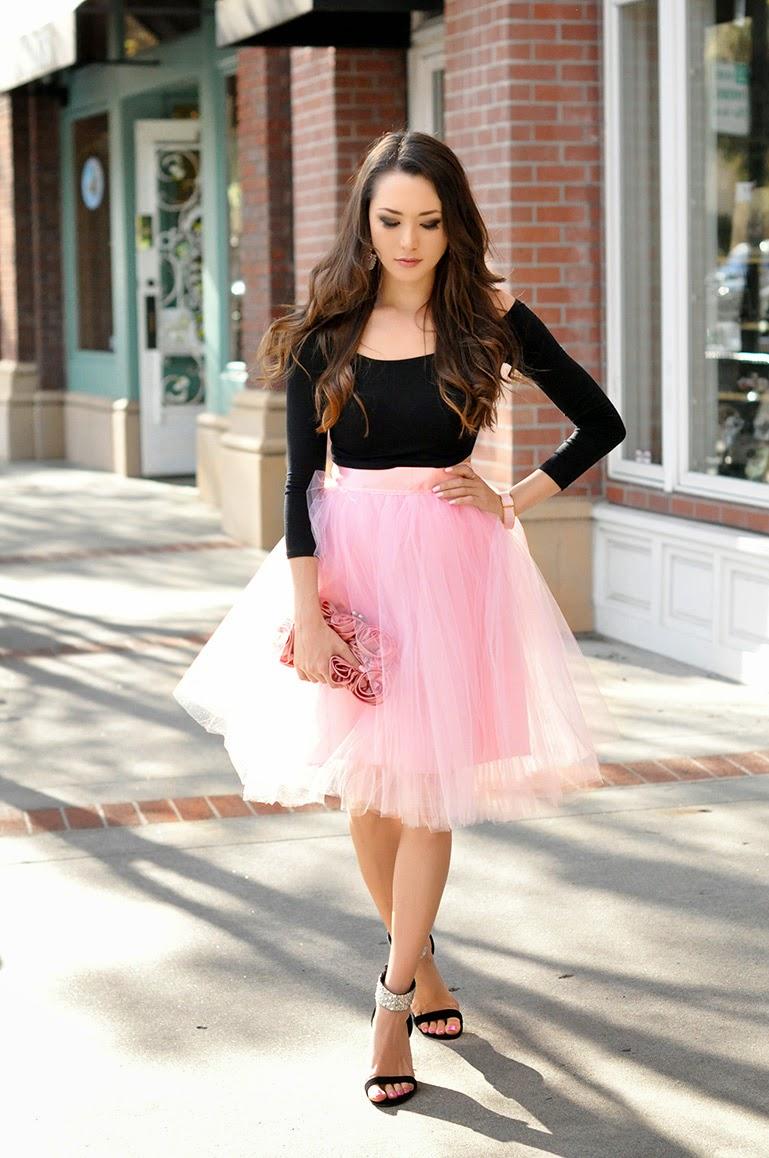 saia de tule com cropped, moda feminina, roupas femininas
