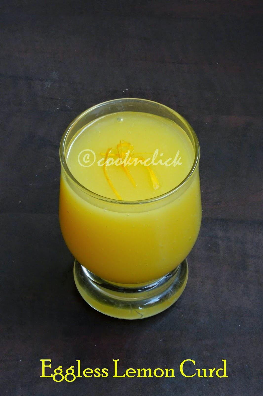 Eggless lemon curd,lemon curd