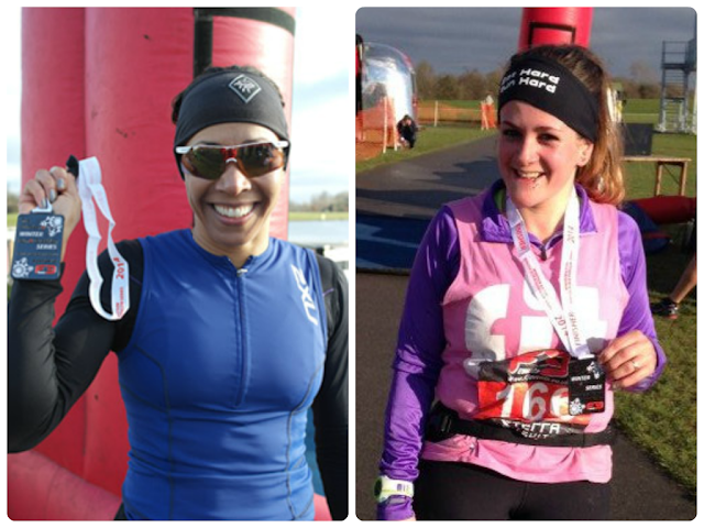 Kelly Holmes at the Maxifuel Winter Duathlon, Dorney Lake