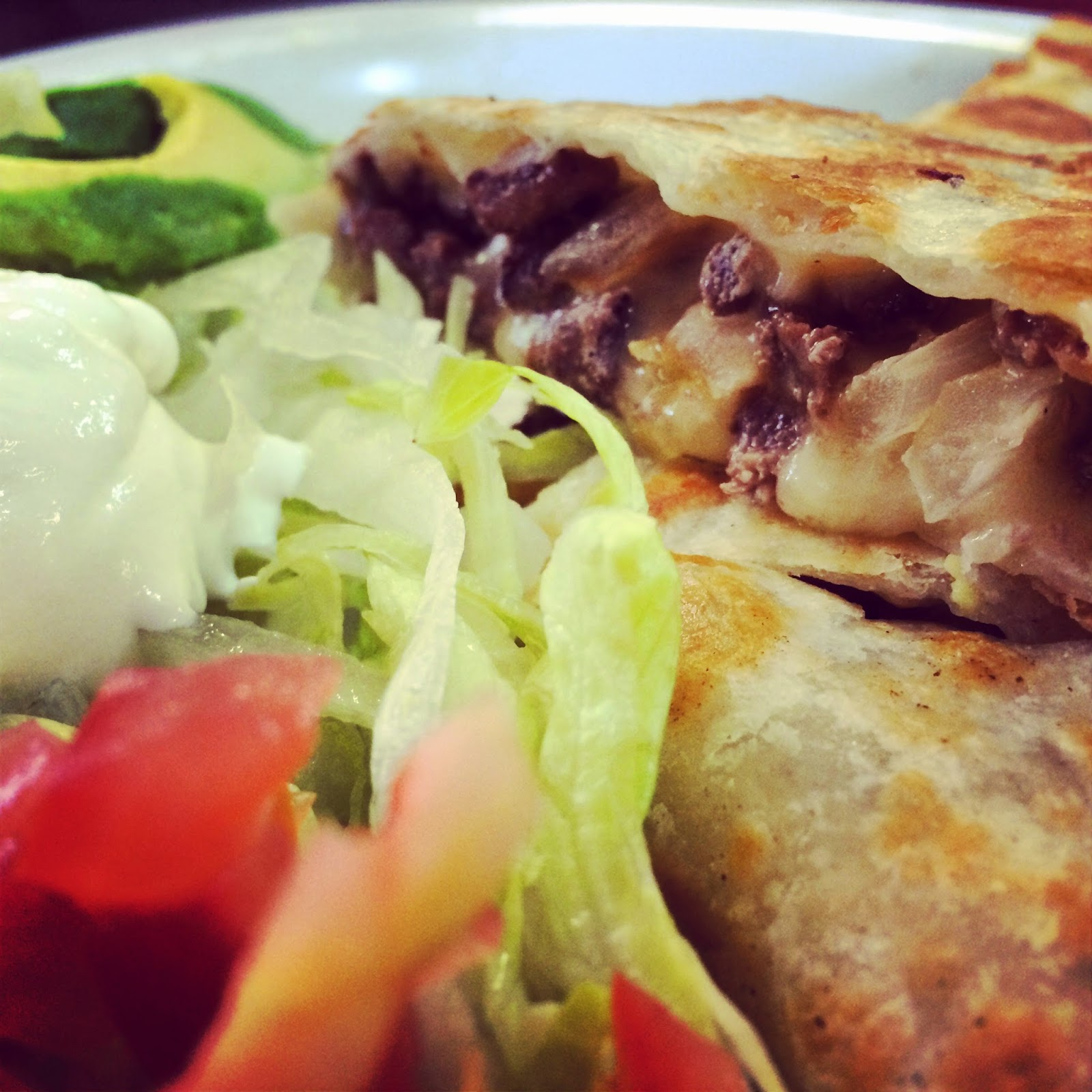Beef Quesadillas with Grilled Onions