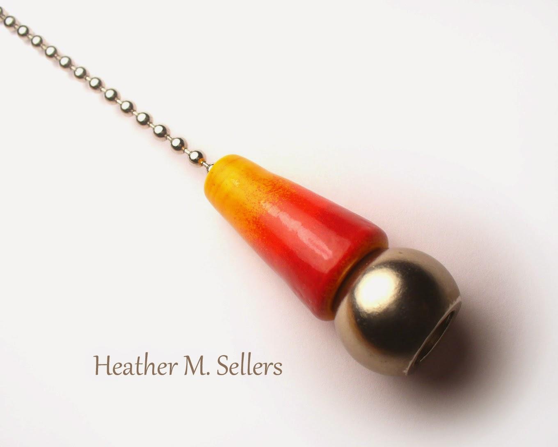 Heather Sellers Art Glass: Decorative Fan/Light Pull : Updated