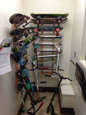 Check Out This Picture Of Our Skateboard Racks Installed For And Scooter Storage At Sylvan Middle School In Citrus Heights California