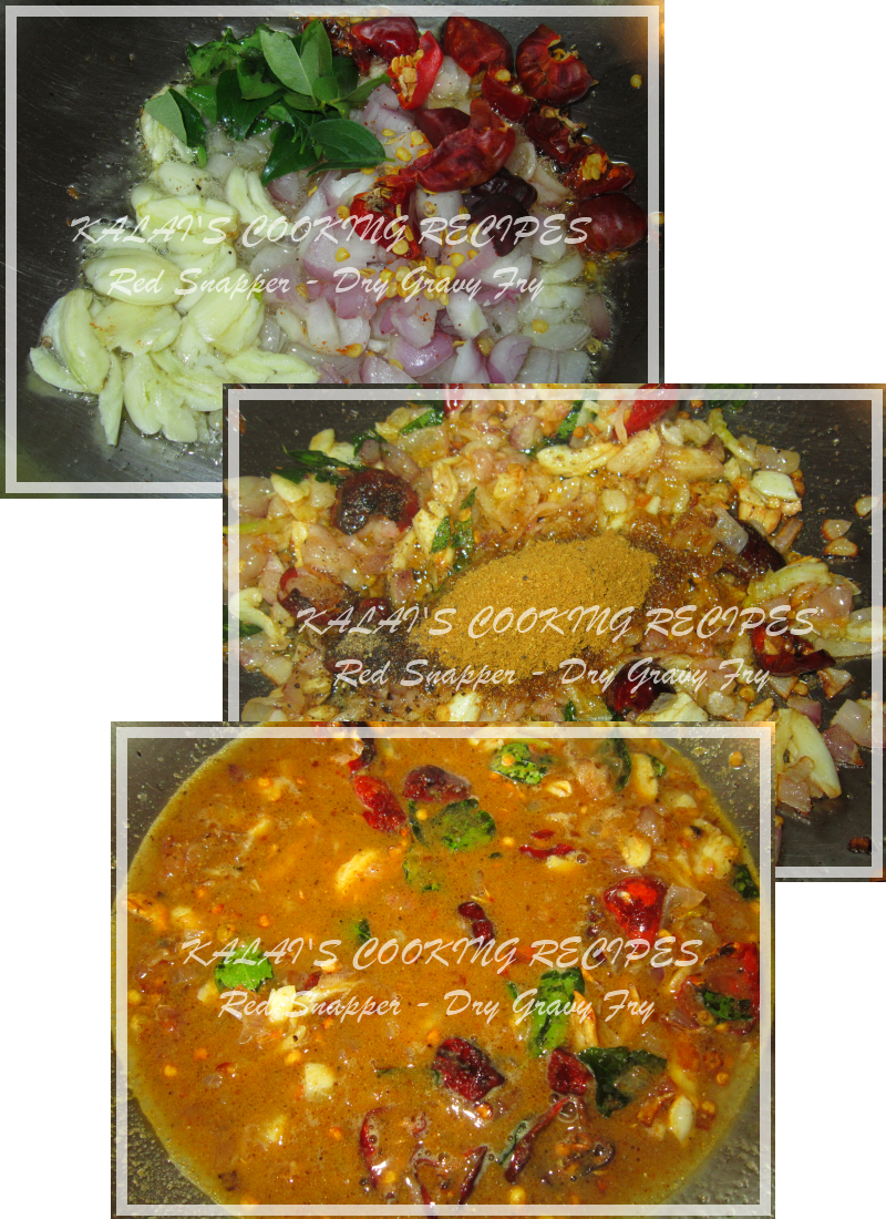 how to make red snapper fish curry