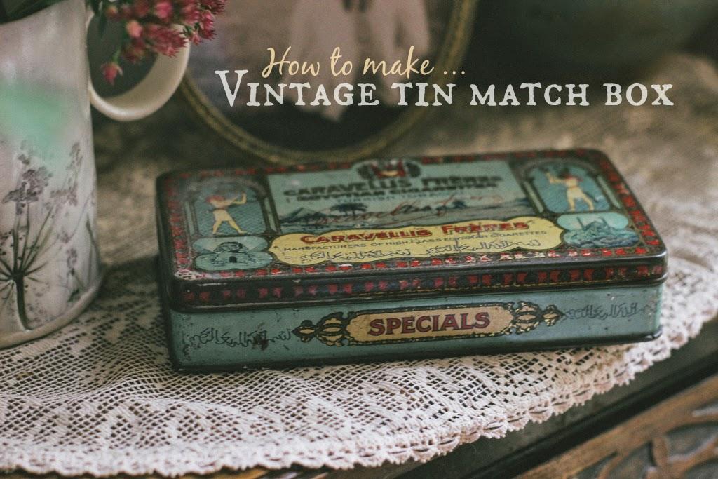 Vintage tin match box