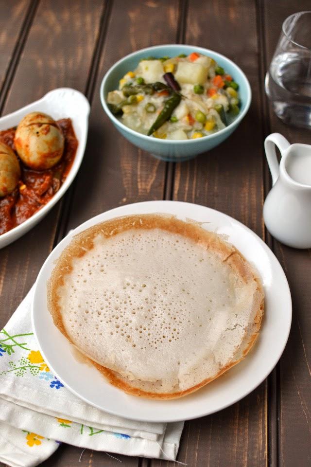 Kerala -- Appam with Vegetable Stew