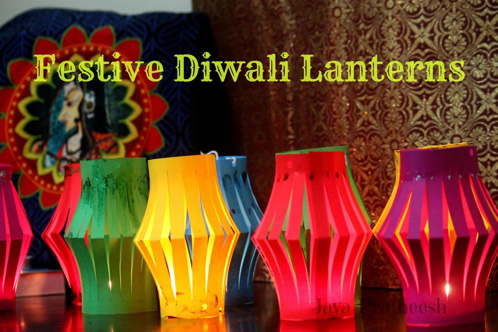 diwali paper lantern display DIY tutorial