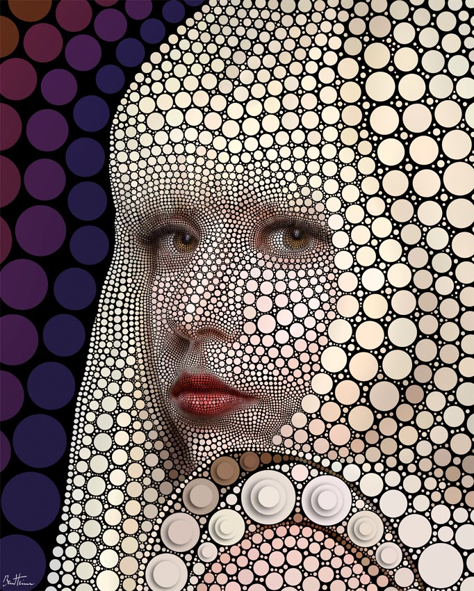 06-Lady-Gaga-Ben-Heine-Painting-&-Sculpture-Digital-Circlism-Portraits-www-designstack-co