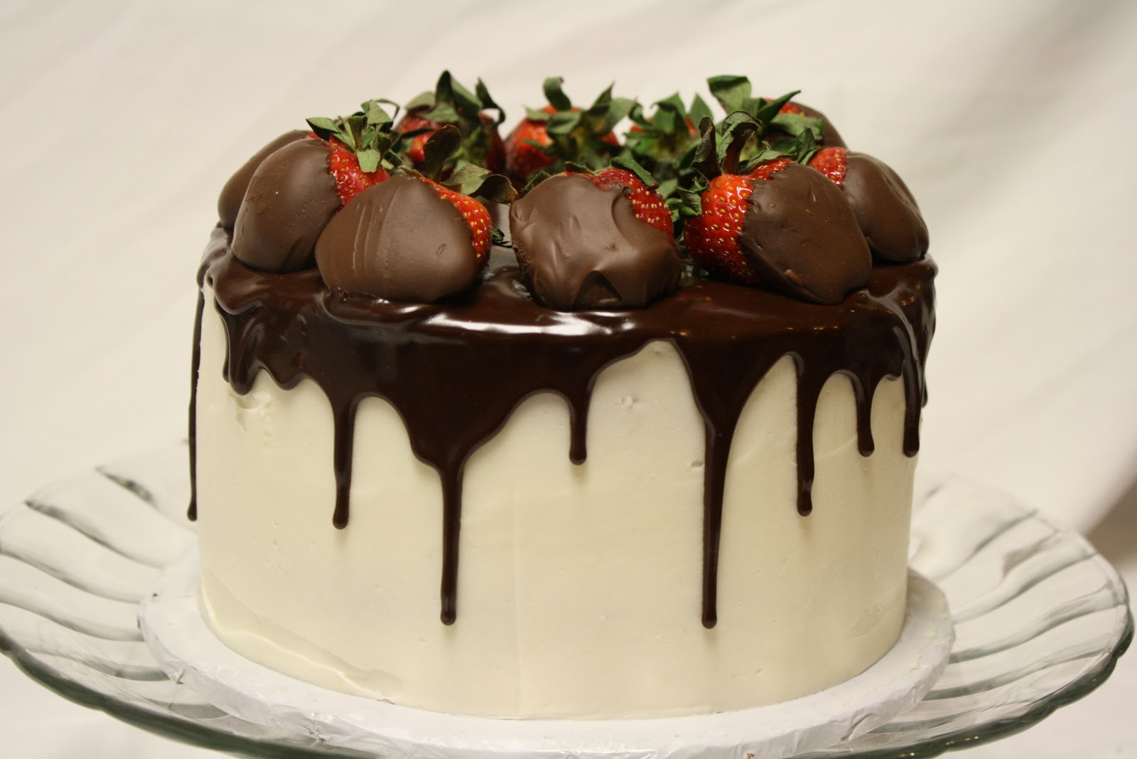 The Voluptuous Chocolate-Covered Strawberry Ganache Cake ...