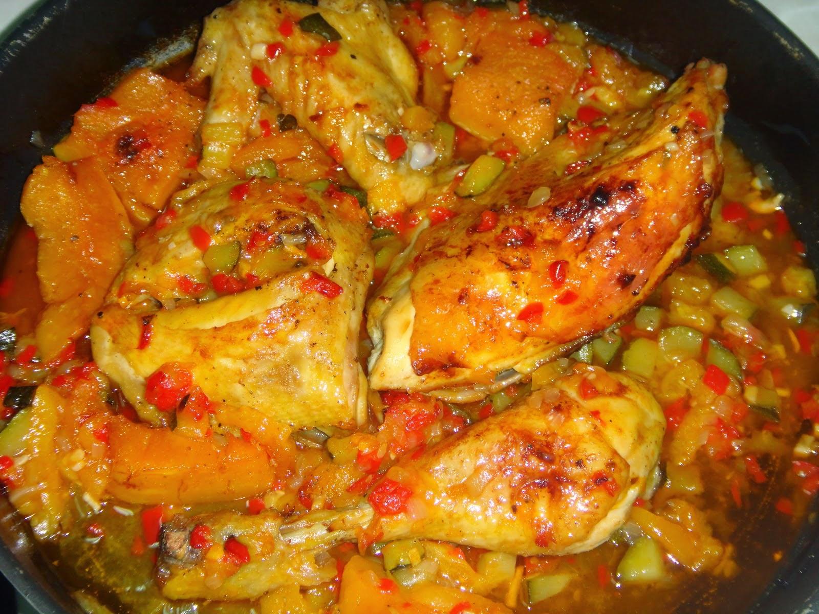Comida f cil pollo con pisto - Pollo con almendras facil ...