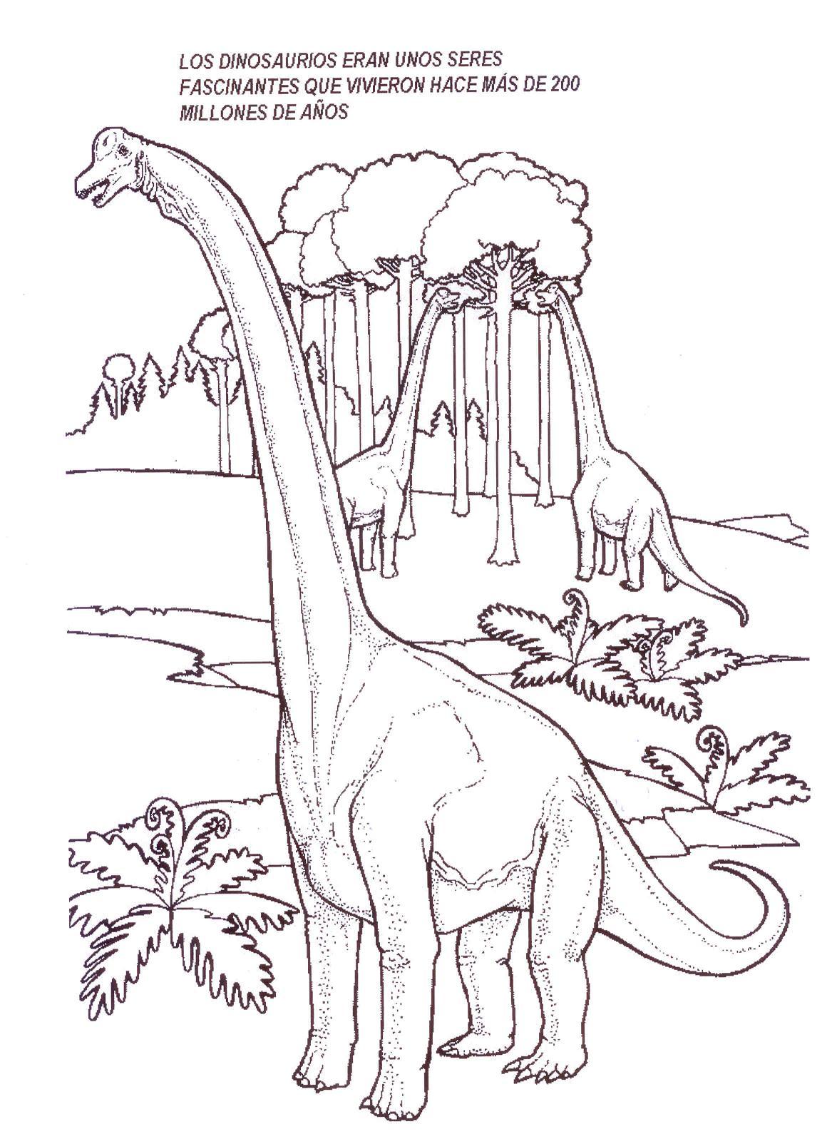 Dinosaurios para colorear: Brachiosaurus