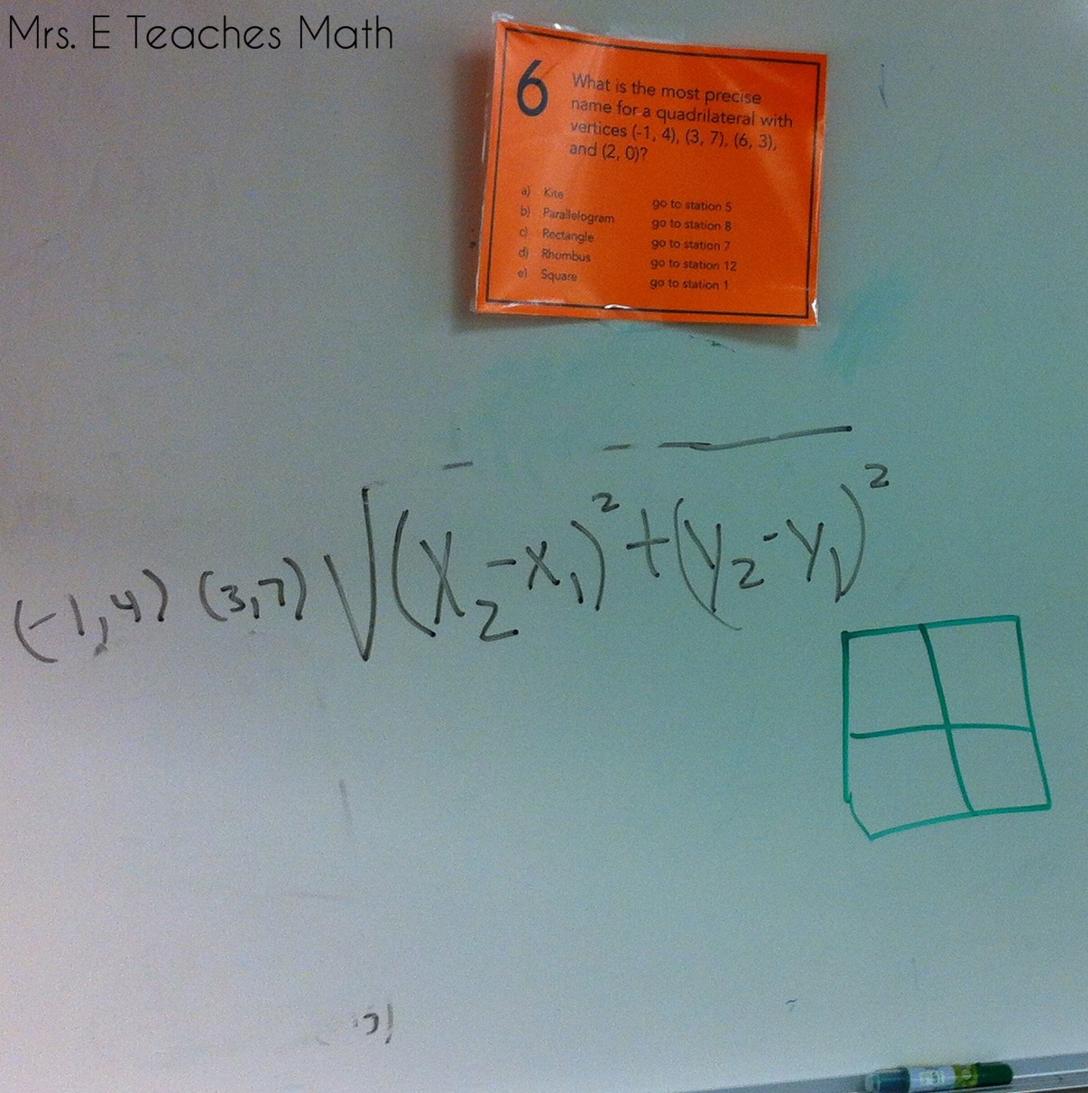 Reviewing with Stations Mazes | Mrs. E Teaches Math