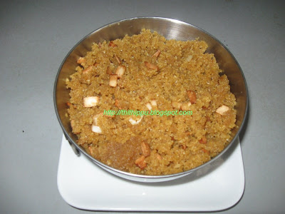 Aval Puttu is with puffed rice and jaggery