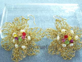 Brass_flower_wire_crochet_earrings_embellished_inner_crystals_and_outer_freshwater_pearls