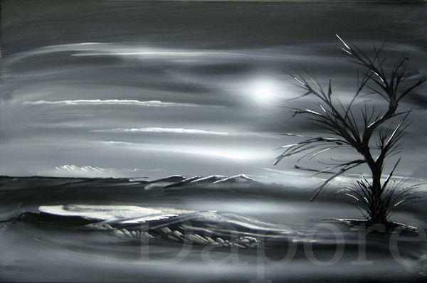 Black white art painting for White canvas to paint
