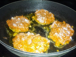 Frying Carrot Fritters