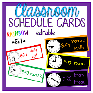 https://www.teacherspayteachers.com/Product/Editable-Schedule-Cards-WhiteBlack-Rainbow-Set-1939767