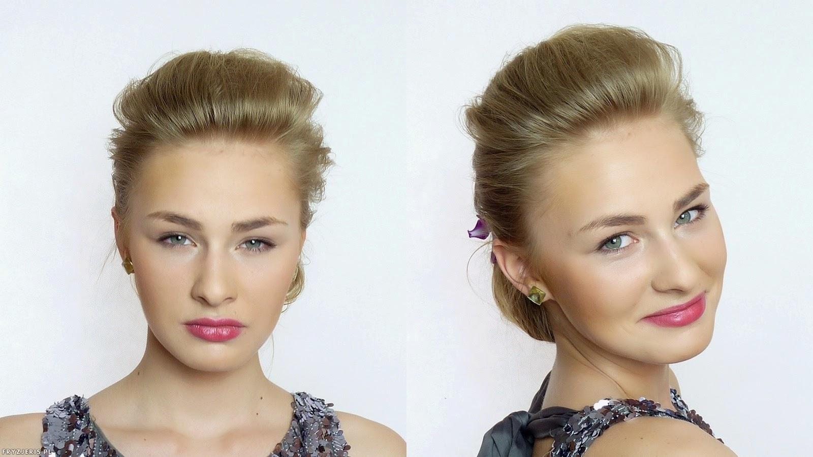 fryzura ślubna odsłaniająca twarz 5